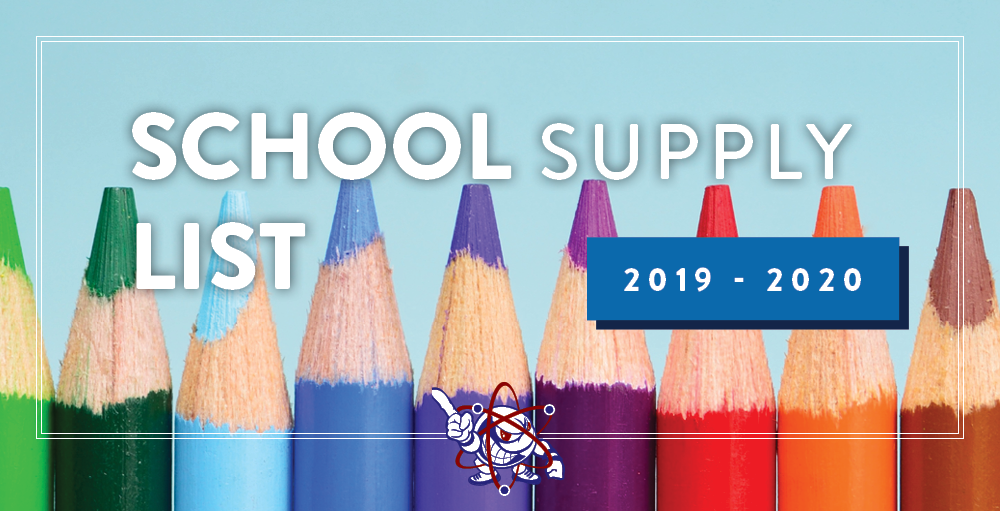 The 2019 - 2020 School Supply Lists are now live on the website. Click on the Supply List section to view your students complete list today.